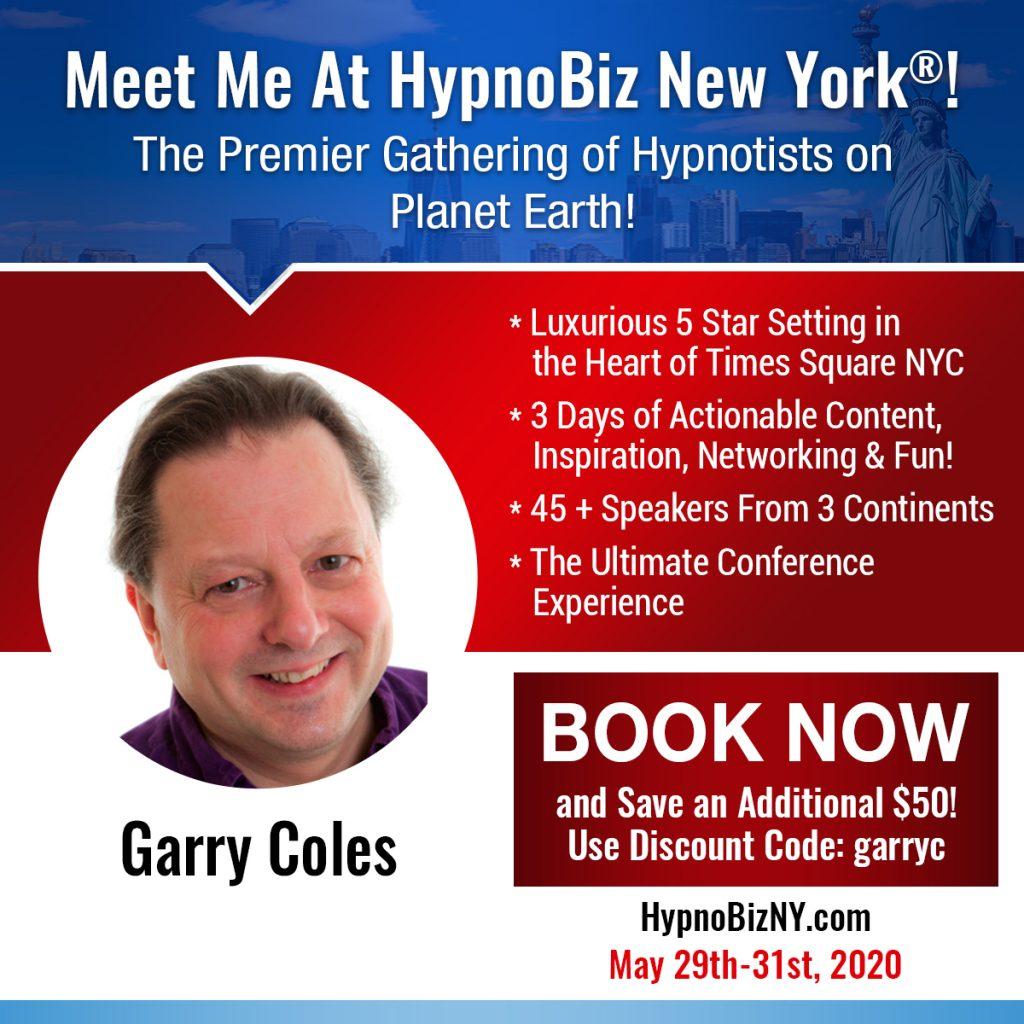 HypnoBiz Poster Garry Coles New York 2020